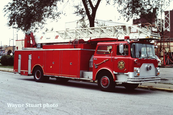 Gary Fire Department historic fire truck