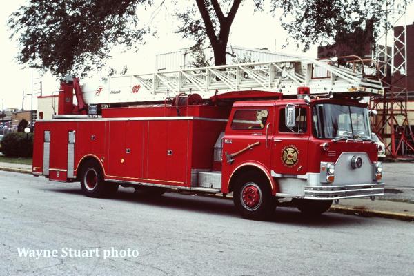 Gary Fire Department historic fire truck