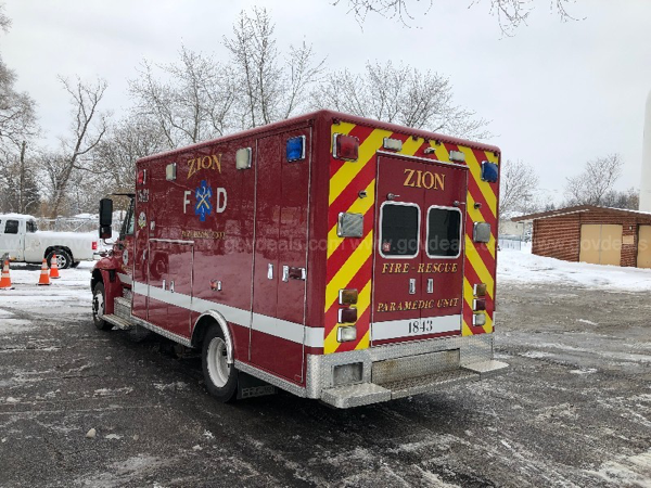 2005 IHC/4300/Horton ambulance for sale by the Zion FD.