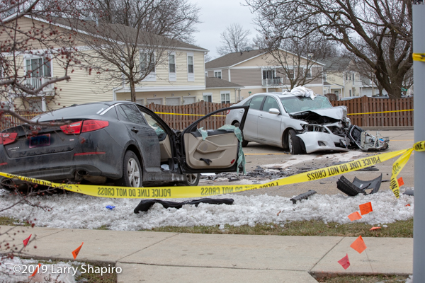 Two cars destroyed after head-on crash in Wheeling IL 2/5/19