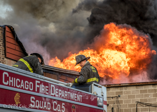 Chicago Firefighters prepare to deploy Squad 5A