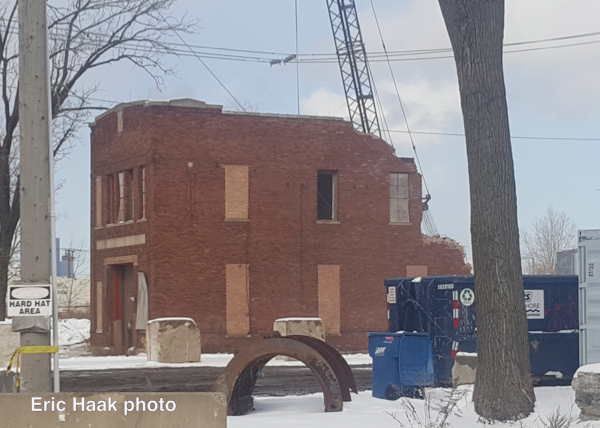 Old Chicago Fire Department Engine 53's house in the stockyards was torn down Monday, 2-18-19.