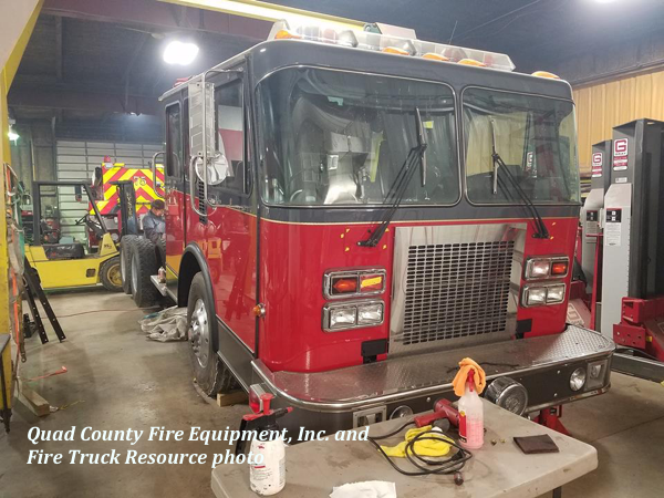 former Prospect Heights FPD tanker being refurbished