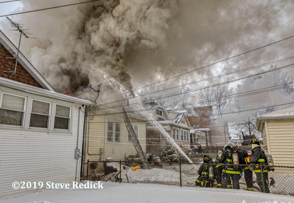 heavy smoke from Chicago bungalow fire