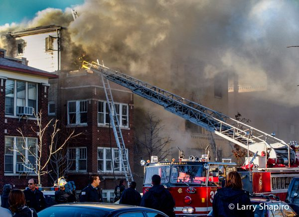 3-11 Alarm fire at 4344 N Winchester 12/6/01