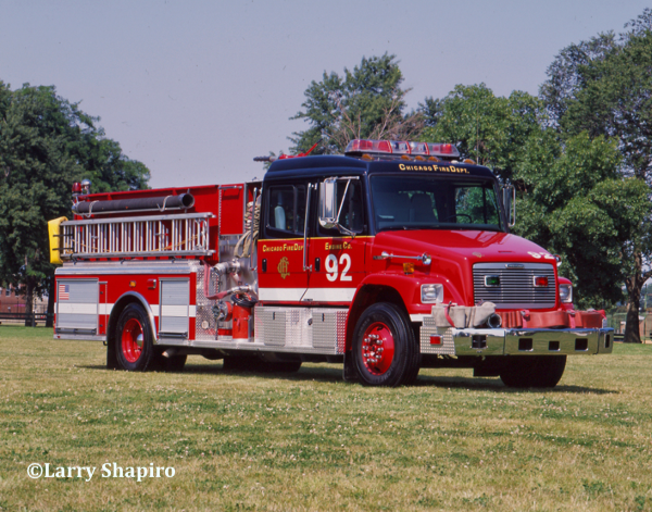 Chicago FD Engine 92 - 2001 Freightliner FL106/American LaFrance 1500/500