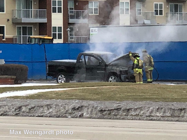 Truck fire in Northbrook, IL 2/17/19