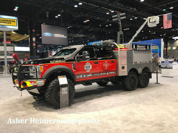 Ford 6x6 AWD fire truck on display at the 2019 Chicago Auto Show