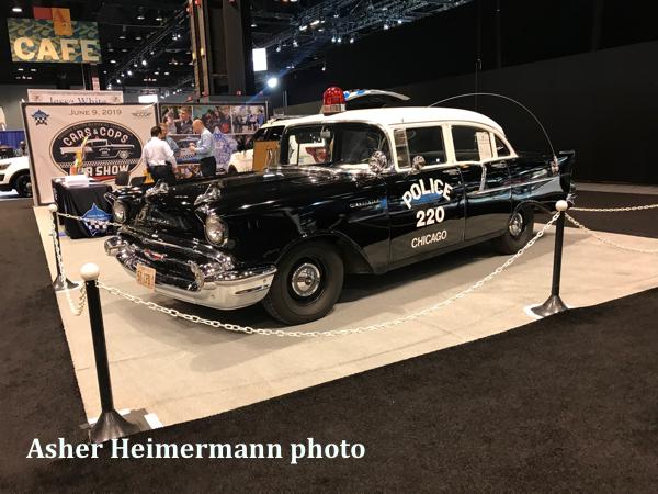 vintage Chicago police car