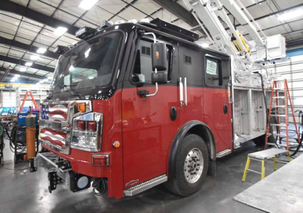 Rosenbauer America Commander ACP-55 being built for the Evergreen Park FD