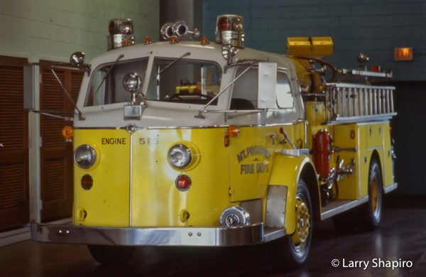 vintage American LaFrance fire engine