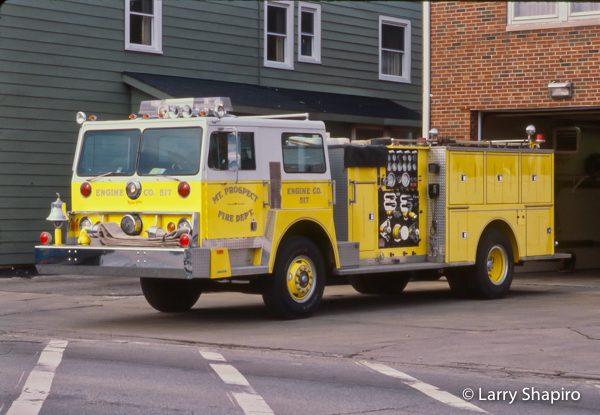 vintage Hendrickson Pierce fire engine