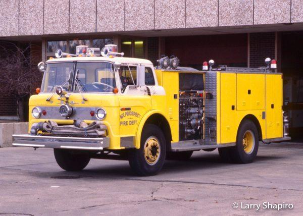 vintage Ford/WS Darley fire engine