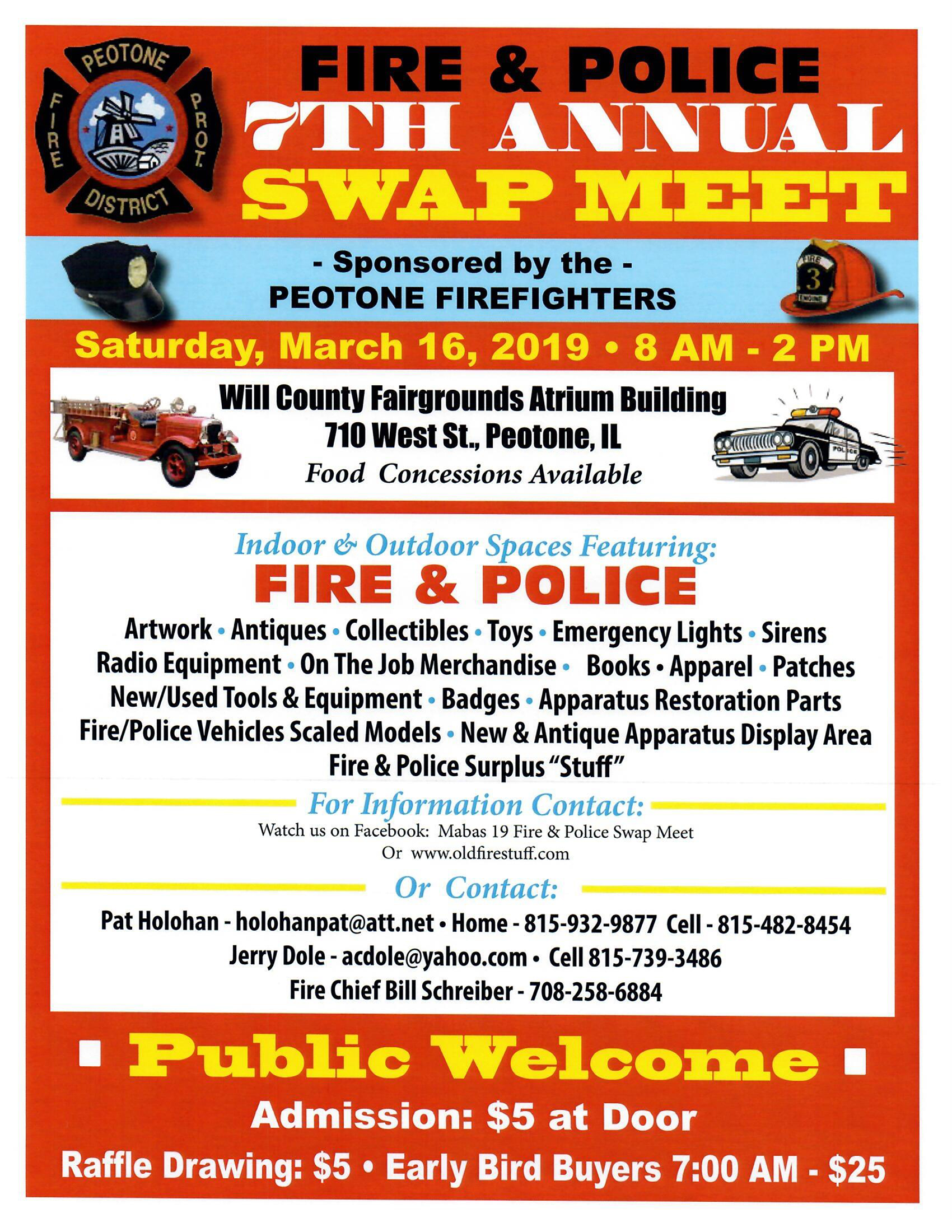7th Annual Peotone Firefighters Swap Meet