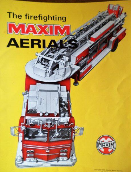 1972 Maxim Fire Trucks brochure cover