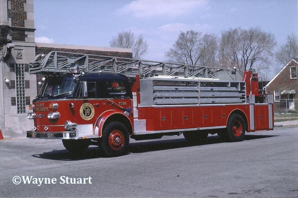 1970 American LaFrance 900 series 100' Ladder Chief with a 200-gallon booster tank. This one carried ALF serial # 2-1-2323