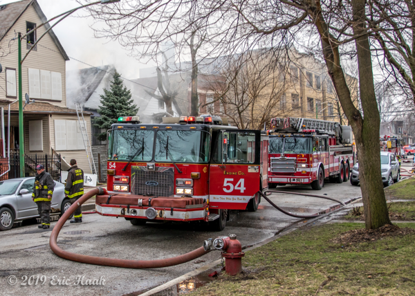 Chicago FD engine 54 at a fire scene