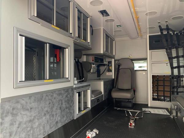 interior of new Wheeled Coach Type III ambulance