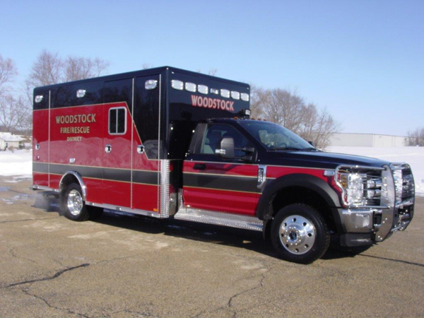 New ambulance for the Woodstock Fire Rescue District