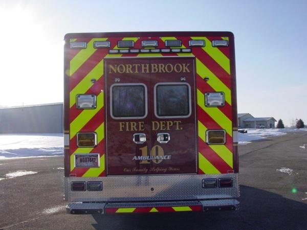chevron striping on back of ambulance