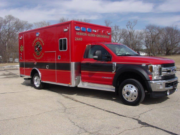 new ambulance for the Hebron-Alden-Greenwood FPD