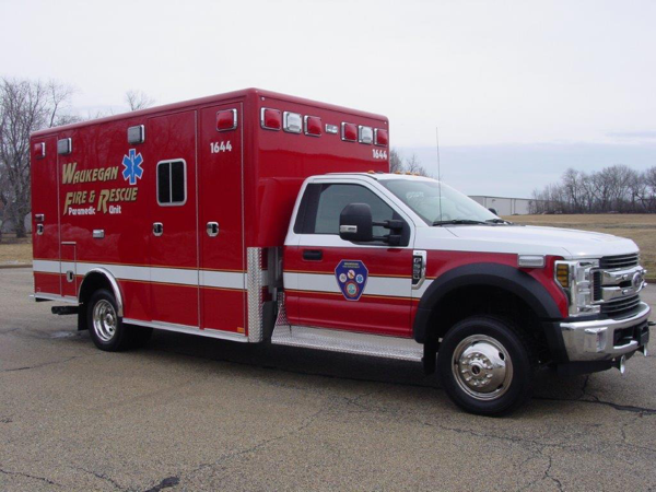 Waukegan FD Ambulance 1644