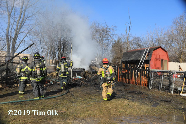 shed fire at 21100 Shirley Road in unincorporated Palatine