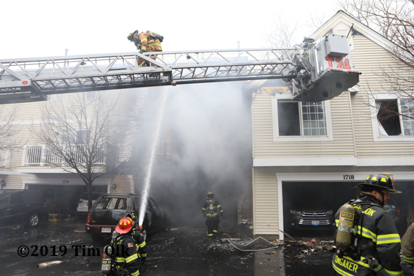 Wheeling Firefighters battle townhouse fire