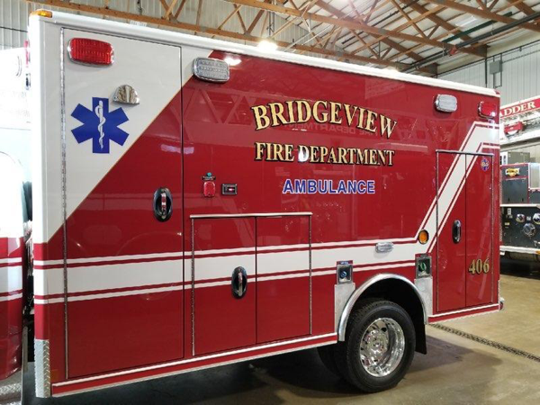 new Wheeled Coach Type I ambulance for the Bridgeview FD