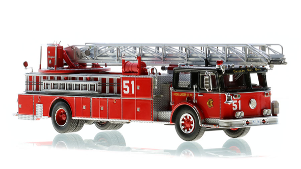 Fire Replica model of Chicago FD Truck 51 Seagrave aerial