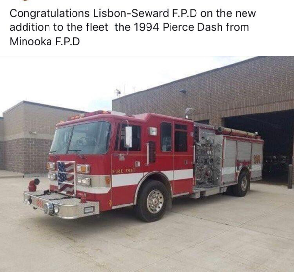 new home for Minooka fire engine