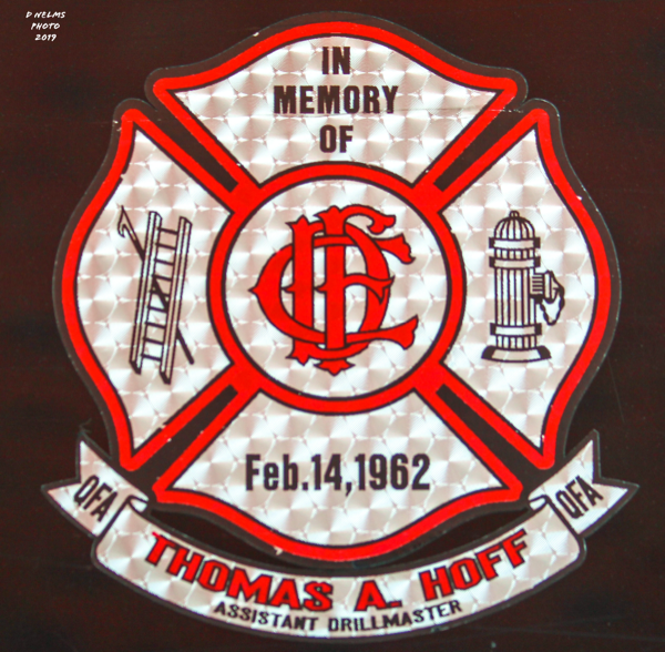 Thomas Hoff Chicago FD memorial decal
