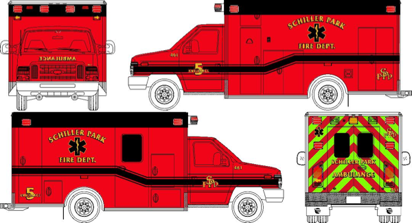 new ambulance for the Schiller Park FD