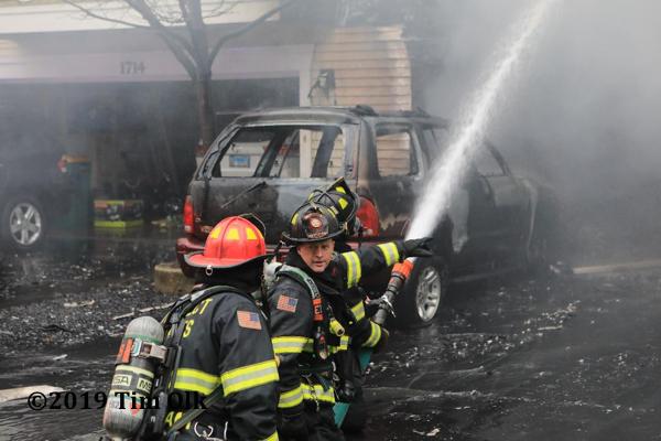 Wheeling Firefighters battle townhouse fire