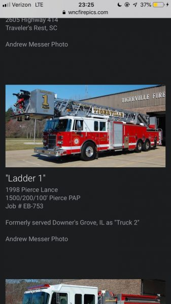 new home for former Downers Grove fire truck