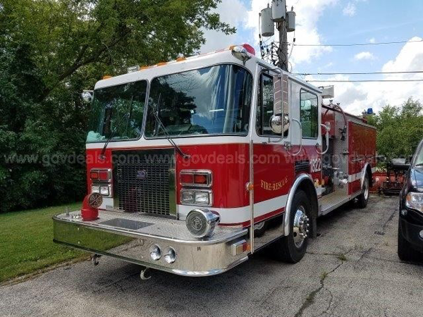 1992 Spartan/3D fire engine for sale from the Zion Fire Department