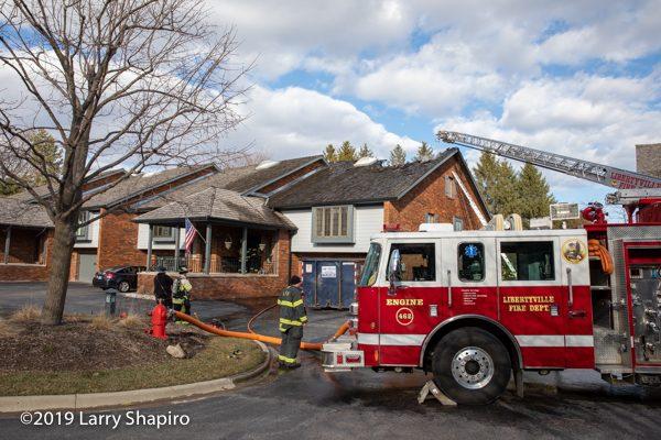 fire scene in Libertyville IL