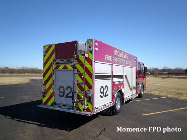 Ferrara Cinder MVP rescue pumper for the Momence FPD