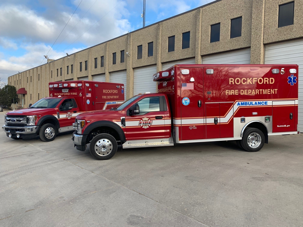 new Wheeled Coach Type I ambulance for the Rockford Fire Department