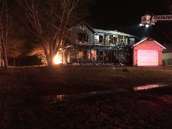 aftermath of house fire at 1319 Janet Street in Sycamore IL
