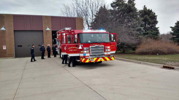 new Pierce fire engine for the Countryside FPD in IL