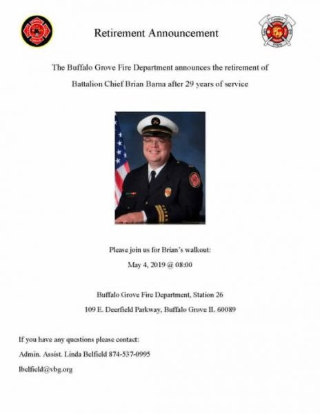 Retirement of Buffalo Grove FD Battalion Chief Brian Barna