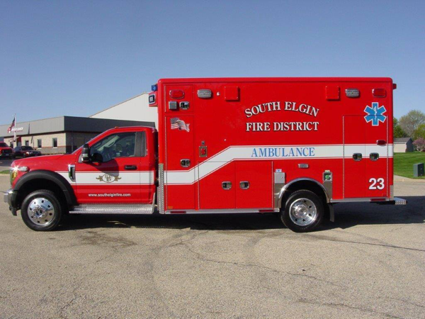 South Elgin Fire District Ambulance 23