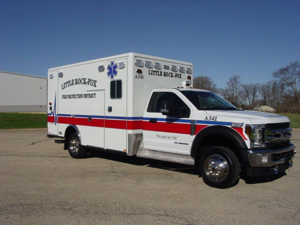 Ford F550/Horton Type I ambulance for the Little Rock-Fox FPD
