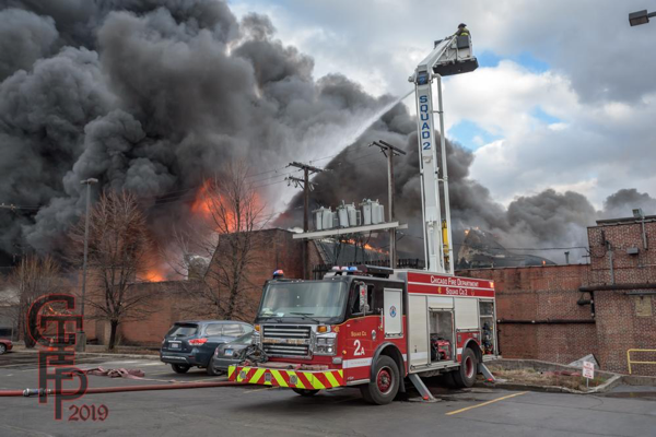 Chicago FD Squad 2A at a fire
