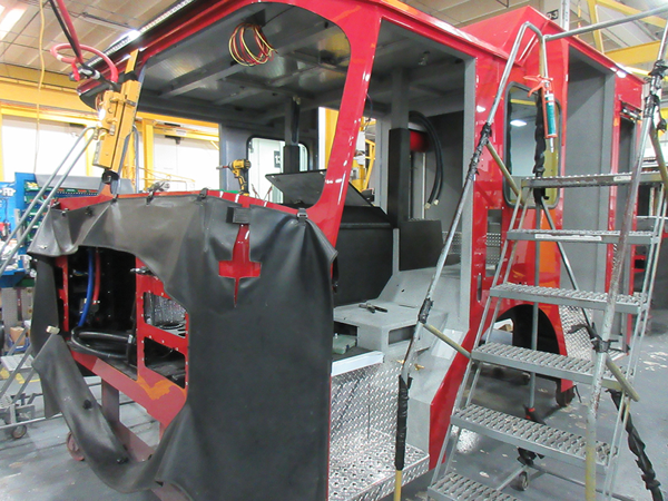 E-ONE fire engine being built so 142205