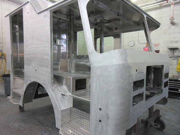 E-ONE fire engine being built for Chicago so#142587
