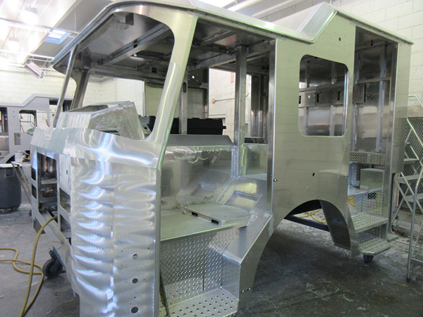 E-ONE fire engine being built for Chicago so#142586