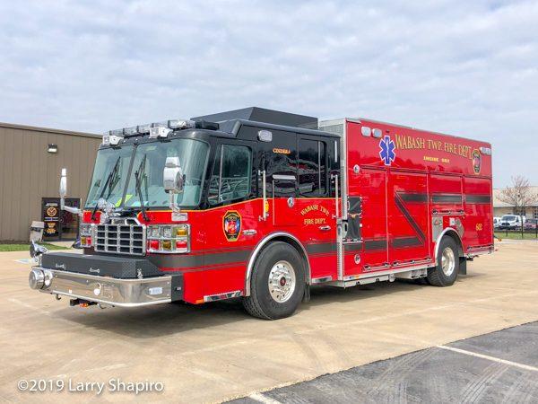 Wabash Township FD Ferrara Cinder fire truck
