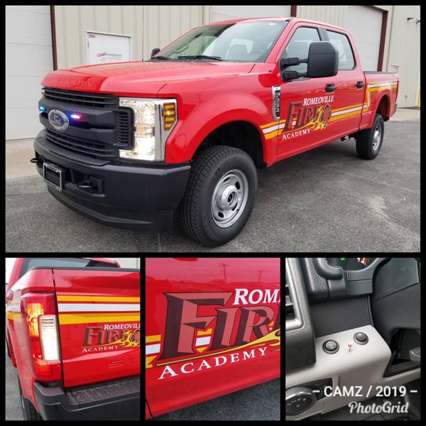 Romeoville Fire Academy pickup trucks